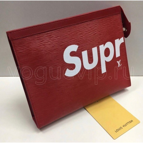 Клатч Louis Vuitton Pochette Voyage Supreme Red